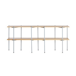 Troika wide, 2-level | Shelving systems | Les Basic