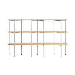 Troika wide, 3-level | Shelving systems | Les Basic