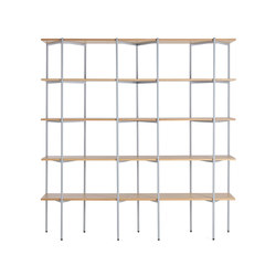 Troika wide, 5-level | Shelving systems | Les Basic