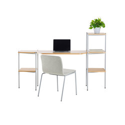 Troika desk, 3-level, single | Bureaux | Les Basic