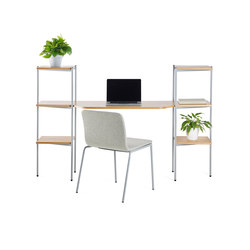 Troika desk, 3-level, double | Desks | Les Basic