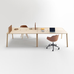 Heldu Working Tables | 4-persons workstations | Alki