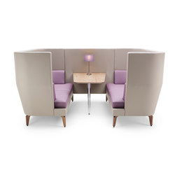 Entente High Back Booth - 4-6 person | Sofas | Boss Design