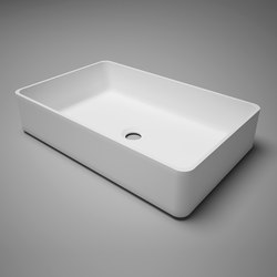 metrix | blu•stone™  rectangular countertop basin | Wash basins | Blu Bathworks