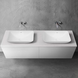 blu•stone™ vanity countertop | series 1800 | Mineral composite panels | Blu Bathworks