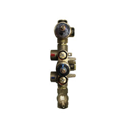 rough-in valves | pure•2 | opus•2 |  thermostatic tub/shower rough-in valve with 2-way diverter & volume control | Concealed elements | Blu Bathworks