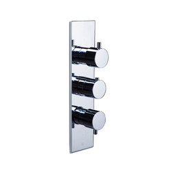 opus∙2 | thermostatic tub/shower valve trim with 2-way diverter & volume control | Grifería para duchas | Blu Bathworks