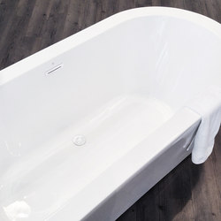 wastes | waste and overflow kit for acrylic bathtubs, White Gloss | Plate drains | Blu Bathworks