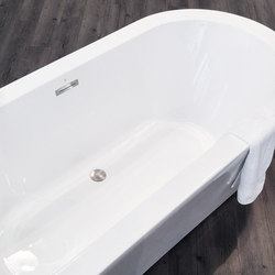 wastes | waste and overflow kit for acrylic bathtubs, Brushed Nickel | Plate drains | Blu Bathworks