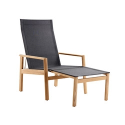 Safari Deck Chair, incl. Footstool | Garden armchairs | solpuri