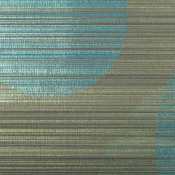Cirque Stria | Turquoise | Wall coverings / wallpapers | Luxe Surfaces