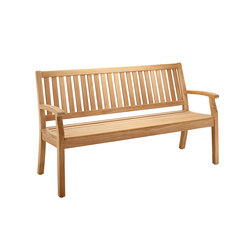 Windsor Bench with arm and back, medium | Garden benches | solpuri
