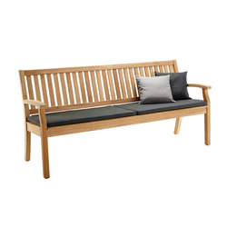 Windsor Bench with arm and back, large | Bancs de jardin | solpuri