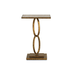 Bangle Accent Table, Gold Leaf | Side tables | Currey & Company