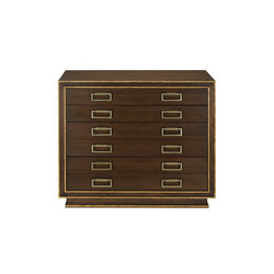 Benedict Map Chest | Sideboards | Currey & Company