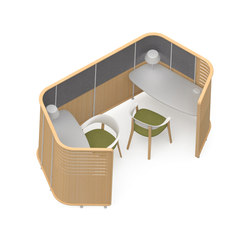 Zones Enclosures | Lluvia de ideas / reuniones cortas | Teknion