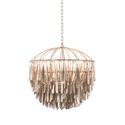 Gilded Cage Medium Round Chandelier | Ceiling suspended chandeliers | Fisher Weisman