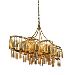 Midas Plank Chandelier | Ceiling suspended chandeliers | Fisher Weisman