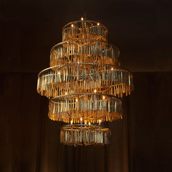 Midas Grand Tier Chandelier | Ceiling suspended chandeliers | Fisher Weisman