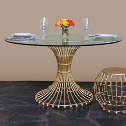 Gilded Cage Dining Table Base | Cavalletti per tavoli | Fisher Weisman