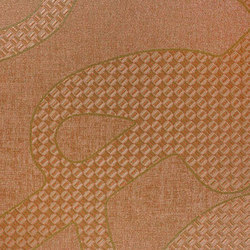 Menza | Copper | Carta parati / tappezzeria | Luxe Surfaces