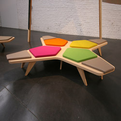 Airbench Small Cross | Waiting area benches | Quinze & Milan