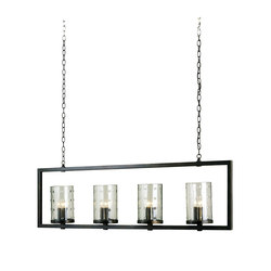 Longhope Rectangular Chandelier | General lighting | Currey & Company