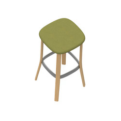 Zones High Backless Stool | Sgabelli bancone | Teknion