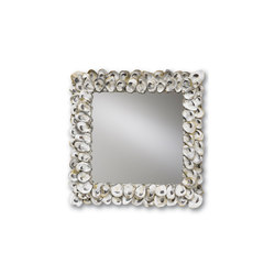 Oyster Shell Mirror | Mirrors | Currey & Company