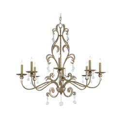 Pompeii Chandelier | General lighting | Currey & Company