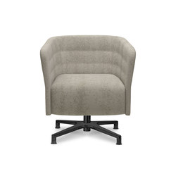 Cell 72 swivel upholstered easy chair with armrests with 4-spoke base | Lounge-work seating | sitland
