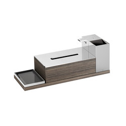 ACCESSORIES | 4 piece accessories set | Chrome | Soap dispensers | Armani Roca