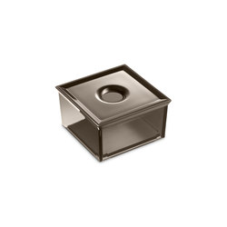 Square container with lid for profile shelf and furniture | Beauty accessory storage | Armani Roca