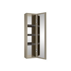 Wall hung column unit with door which opens 180º. | Greige | Wall cabinets | Armani Roca