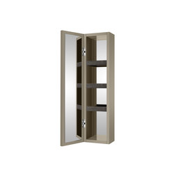 Wall hung column unit with door which opens 180º. | Greige | Wandschränke | Armani Roca