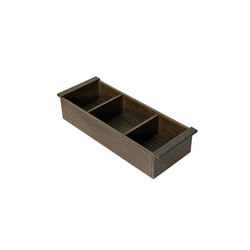 Interior container with 3 compartments, for lower drawer only. | Bath shelves | Armani Roca