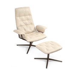Healey Soft Sessel mit Polsterhocker | Loungesessel | Walter K.