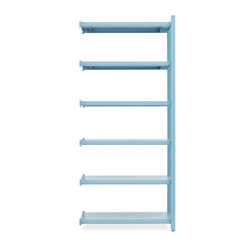 Work Bookcase High 2 Pillars Powder | Shelving | Normann Copenhagen