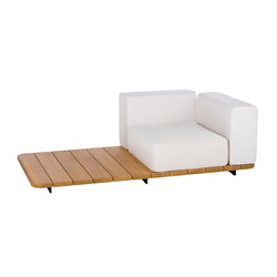 Pal single seat & back + right arm | Fauteuils de jardin | Point