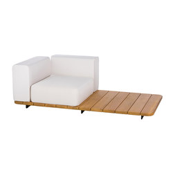 Pal base 184 x 92 + asiento single + resp single + brazo derecho | Sillones de jardín | Point