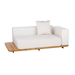 Pal double seat & back + left arm | Divani da giardino | Point