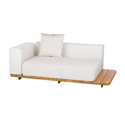 Pal double seat & back + right arm | Gartensofas | Point