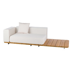 Pal double seat & back + right arm | Garden sofas | Point