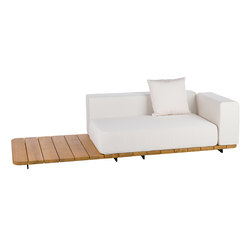 Pal double seat & back + left arm | Garden sofas | Point