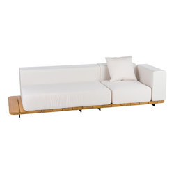 Pal double seat & back + single seat & back + left arm | Sofas de jardin | Point