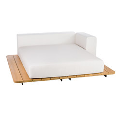 Pal sun bed seat + double back + left arm | Gartensofas | Point