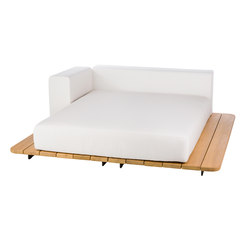 Pal sun bed seat + double back + right arm | Sofas de jardin | Point