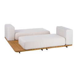 Pal 2 vis a vis double seat + single back | Garden sofas | Point