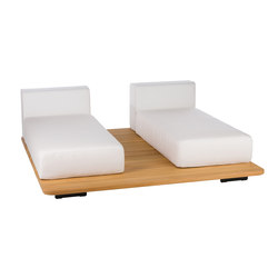 Pal base 185 x 185 + 2 asiento doble + 2 respaldo single paralelos | Sofás de jardín | Point