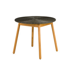 Round Dining Table, Weaving Top | Tables à manger de jardin | Point